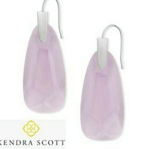 Kendra Scott Maize Silver Drop Earrings in Violet